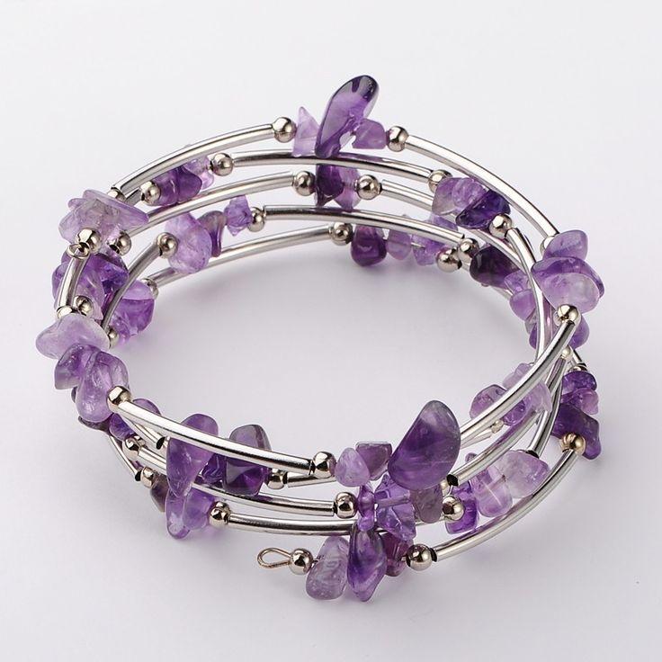 Gemstone Chip Warp Bracelets