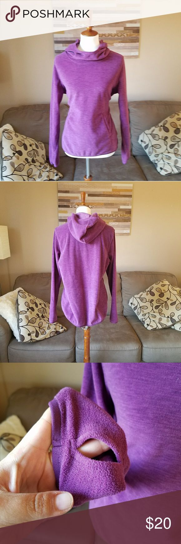 Old Navy Active Purple Petite Hoodie Gently used .  Stretch . Thumb holes . Super soft .  #070904 Old Navy Tops Sweatshirts & Hoodies