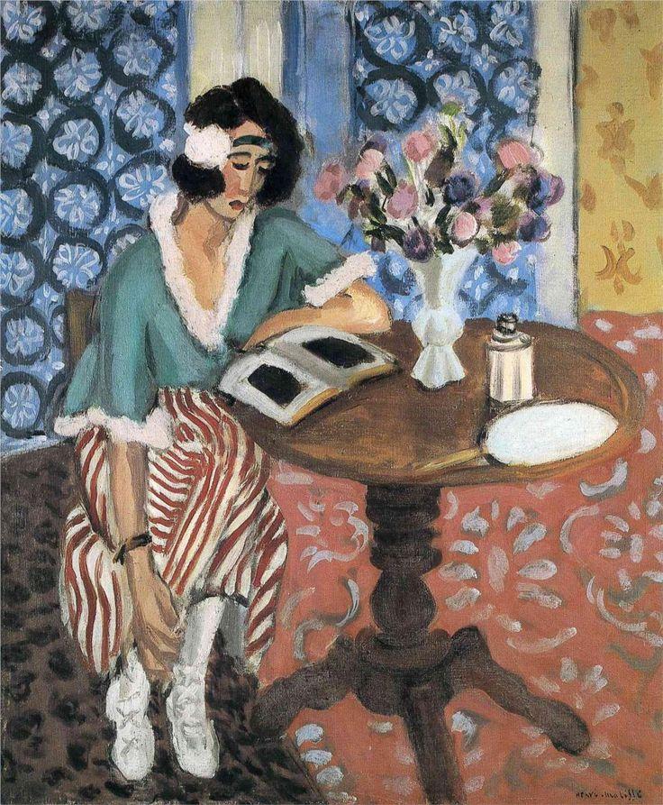 Woman Reading — Henri Matisse (sarebbe una bella board... quasi quasi...)