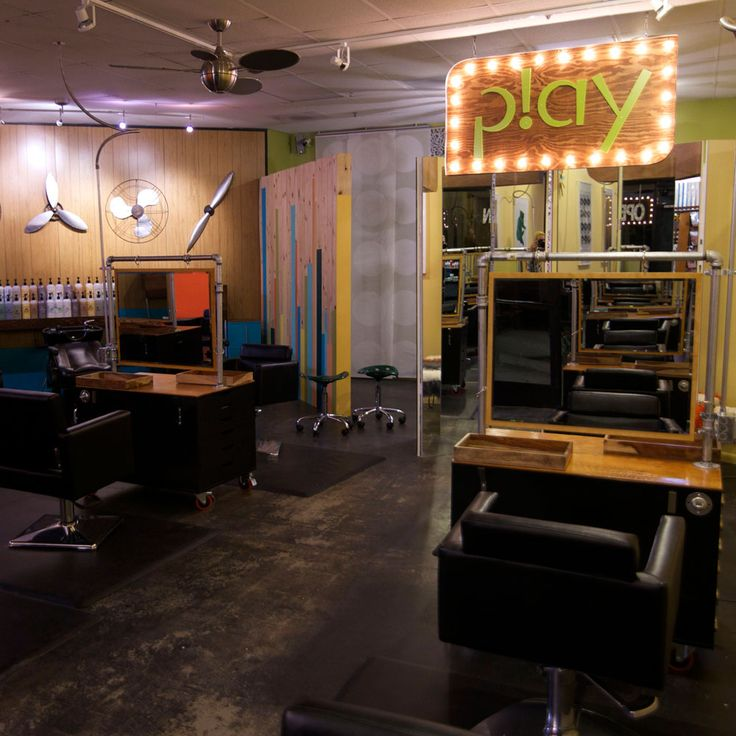 As if going to the salon weren't fun enough—Brig Van Osten's newly redesigned p!ay hair lounge is infectiously colorful and carefree.