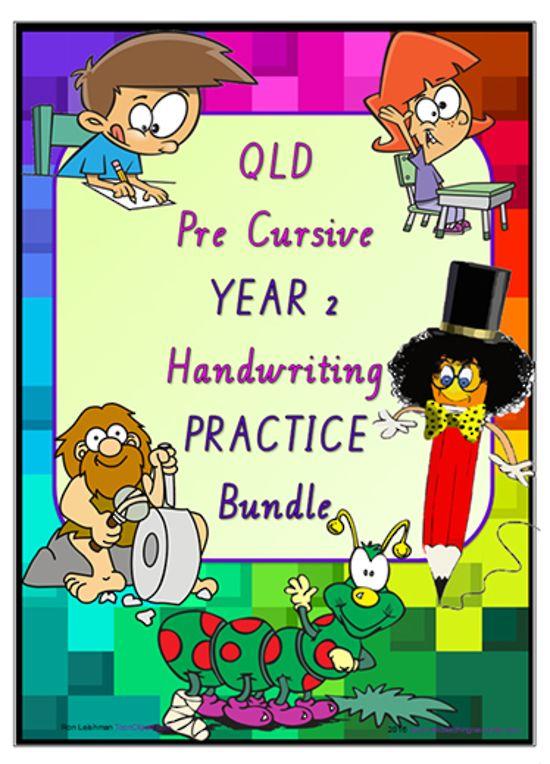 Year 2 | Handwriting | Practice | BUNDLE | QLD PreCursive