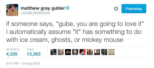 When he was honest. | Community Post: 24 Times Matthew Gray Gubler's Twitter Was A Treasure To Mankind