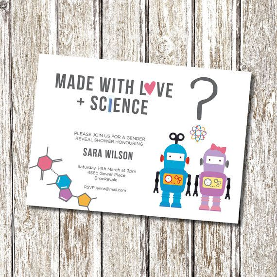 Hey, I found this really awesome Etsy listing at https://www.etsy.com/listing/239884622/robot-science-baby-gender-reveal-baby