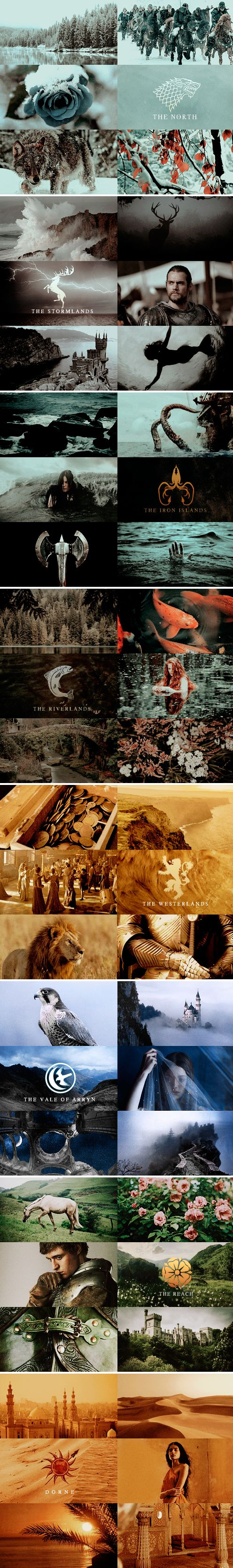 a song of ice and fire aesthetics:  W E S T E R O S