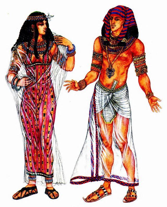 Костюм древнеегипетской царицы и костюм фараона