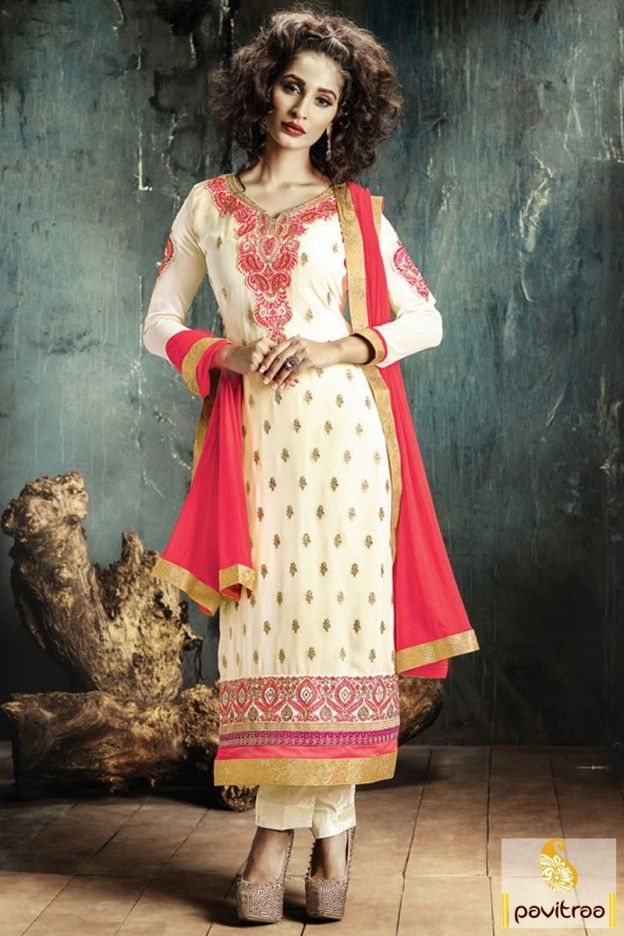 Cream and Red Color Nazneen Salwar Kameez #salwarsuit, #pakisatnidress more: http://www.pavitraa.in/catalogs/embroidered-straight-salwar-kameez-collection/?utm_source=rn&utm_medium=pinterestpost&utm_campaign=10jun more:  EID Festival Special Offer:  Buy 2 Products - Flat 5% off Buy 4 Products or more - Flat 10% off Buy 6 Products or more - Flat 15% off