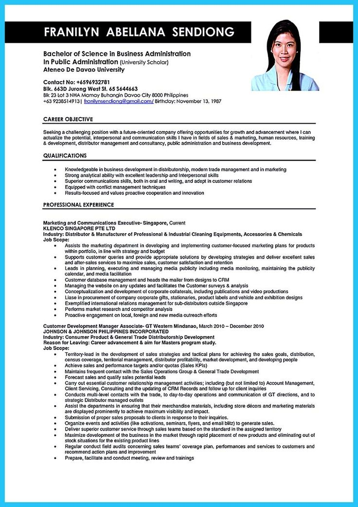awesome Appealing Formula for Wonderful Business Administration - sample resume for business owner