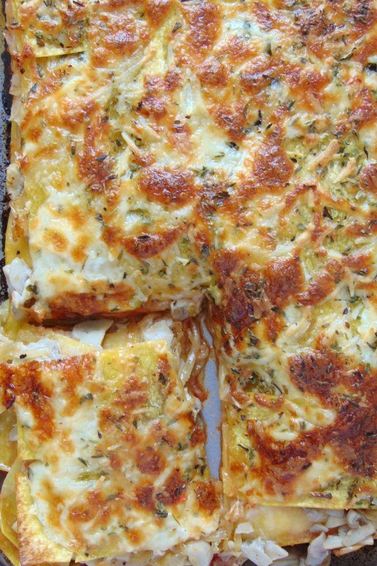Mushroom and caramelized onion lasagna - Ñami - Recetas Heart Healthy Recipes, Veggie Recipes, Real Food Recipes, Vegetarian Recipes, Cooking Recipes, Avocado Pasta, Rice Pasta, Love Eat, Homemade Pasta