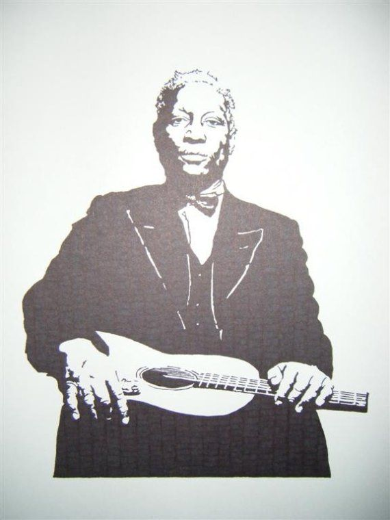 Huddie Lead Belly Ledbetter  Famous Blues Musician and by Kelmosa