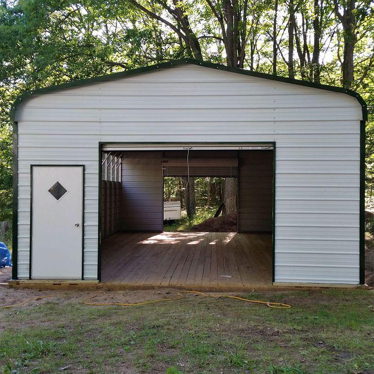 18x36x8 Metal Garage For Sale  Visit www midweststeelcarports com for more  information. 17 Best ideas about Metal Garages on Pinterest   Pole barn garage