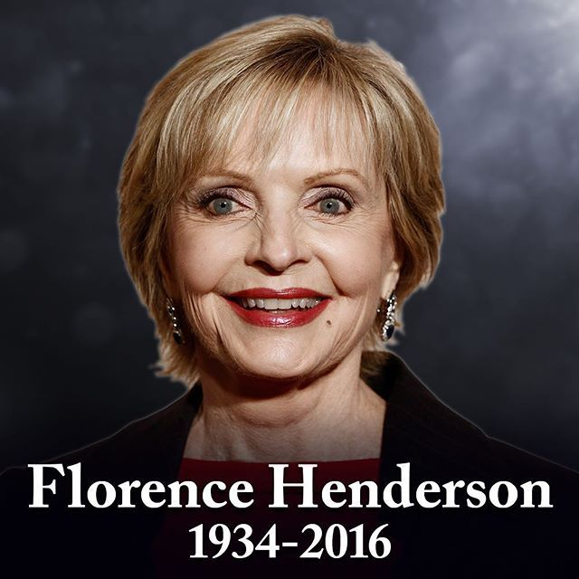 "11/24/16 Best known as the beloved ""Carol Brady"" on The Brady Bunch, Florence Henderson has passed away at the age of 82. #rip #carolbrady #bradybunch"