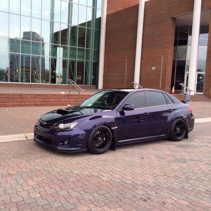 Purple Subaru WRX STi