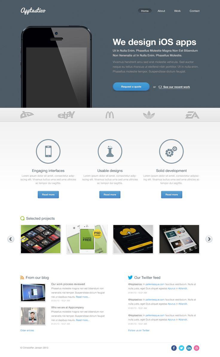 48 best Free psd images on Pinterest   Design web, Website designs ...