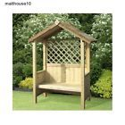 2 SEATER GARDEN ARBOUR TRELLIS SHELTERED WOODEN OUTDOOR BENCH GAZEBO TIMBER