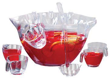 Illusions Punch Salad Bowl 12-Piece Set contemporary-serving-bowls