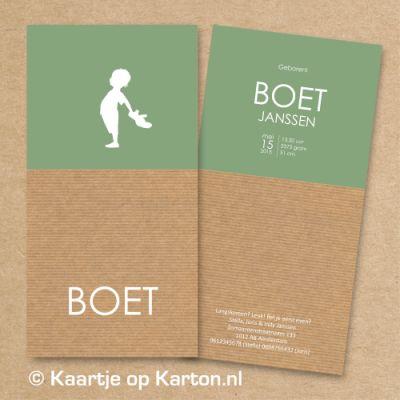 Projects | Kaartje op Karton | Letterpress stijl en zeefdruk geboortekaartjes