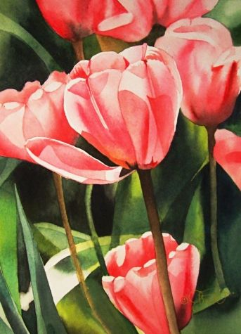Springtime in Indiana, original painting by artist Jacqueline Gnott | DailyPainters.com