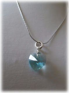 Silvia Jewellery of Style: Collana con ciondolo cuore piccolo cristallo turch...