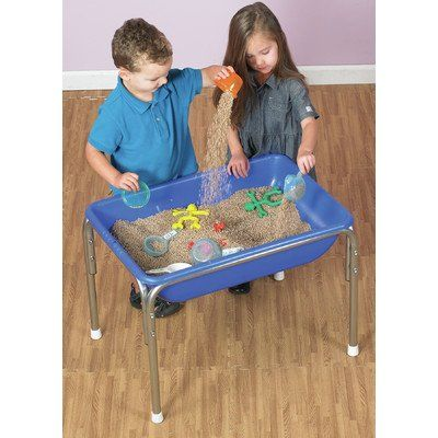 Children's Factory Sand Colored Pellets for Sand and Water Tables. Made of non-allergenic polypropylene plastic pellets. Safe alternative to stand, oatmeal, or rice. Floats in water. Recommended for ages 3 years and above. Scoops are not included.