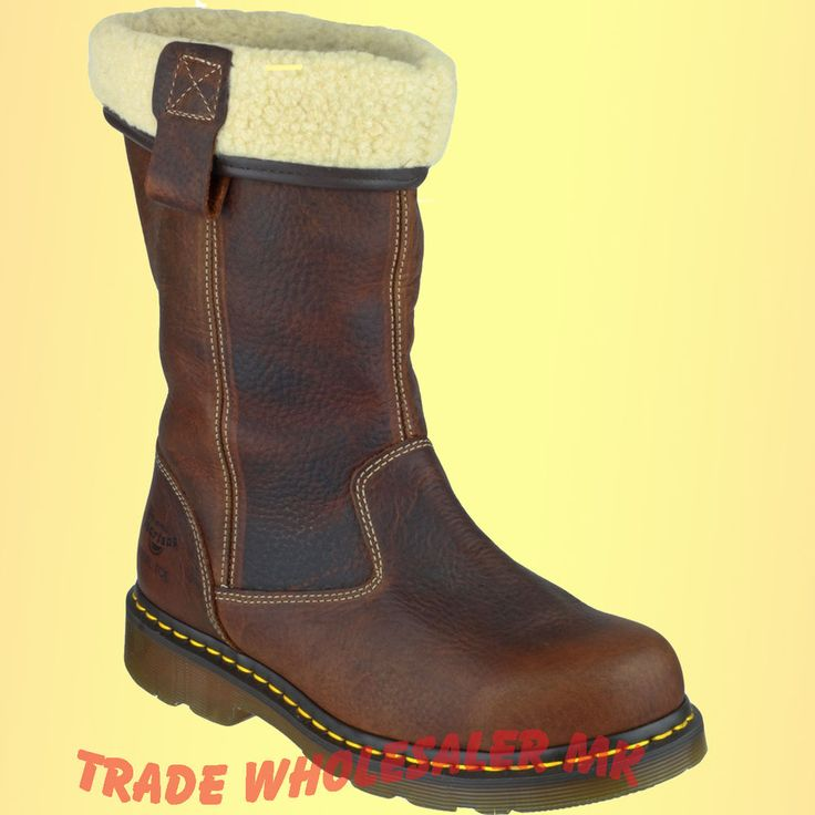 The high quality air cushioned sole unit from Dr Martens is Goodyear welted to the upper and has the trademark DM yellow stitching accents around the sole. Comfort is provided by a fully air cushioned sole unit and inside these boots will find a superb faux fur lining. | eBay!