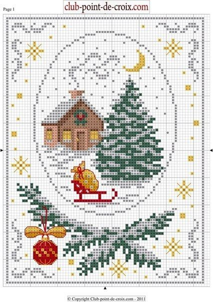 Cross stitch *<3* Point de croix Xmas. Cross-stitching pattern