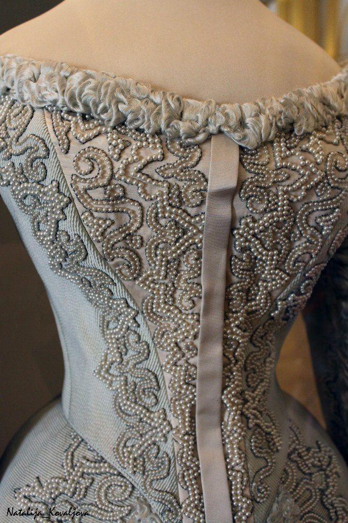 Empress Alexandra Feodorovna court dress.