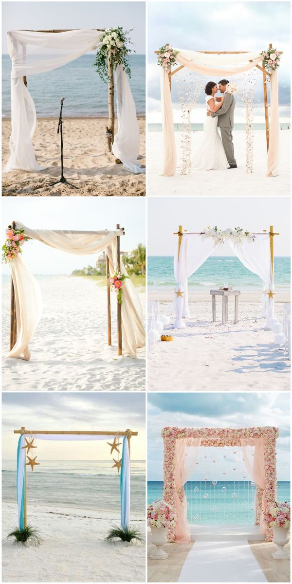 Arches de mariage à la plage Inspirations #wedding #weddingideas #weddingarches #wedding