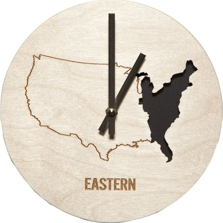 Known for crafting clever objects for your home, Reed Wilson Design's home decor often evokes deeper thinking and laughter simultaneously. Made in the USA, the Eastern Time Zone Clock is made with las