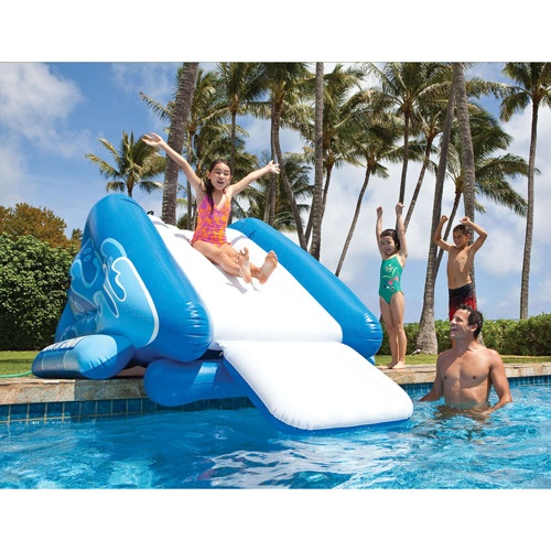 Inflatable Water Slide With Price: Intex Inflatable Water Slide Play Center With Sprayer