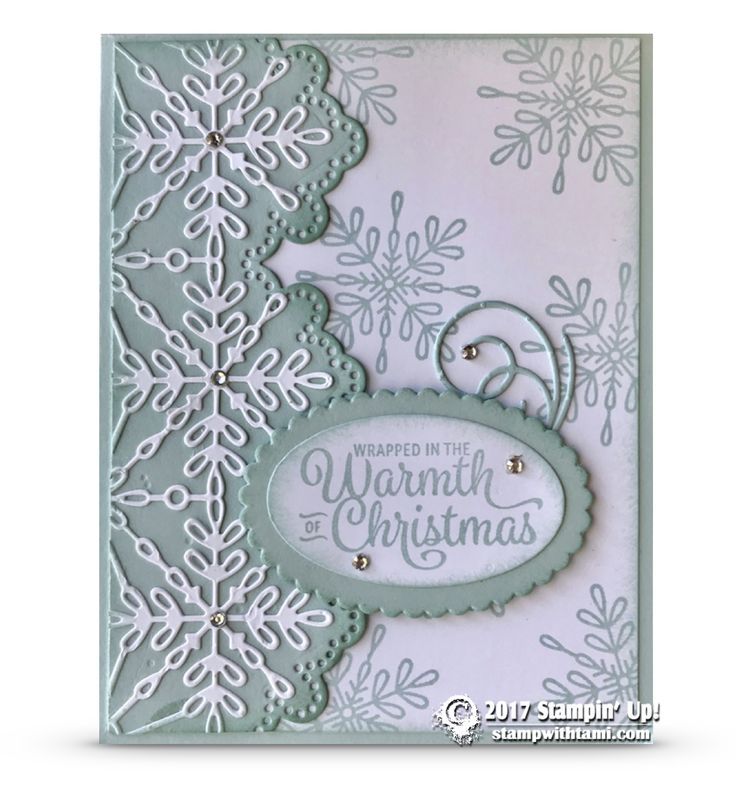 CARD: Wrapped in Warmth from the Snowflake Sentiments Stamp Set   Stampin Up Demonstrator - Tami White - Stamp With Tami Crafting and Card-Making Stampin Up blog