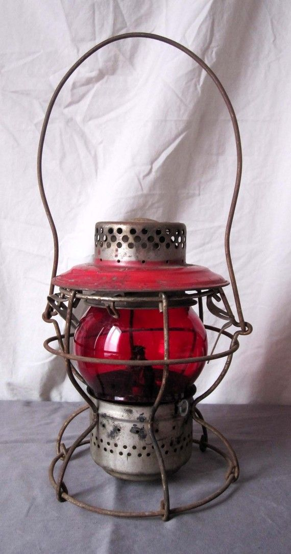 Railroad lantern- in red.