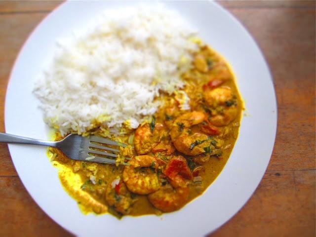 Rachel Roy's shrimp curry
