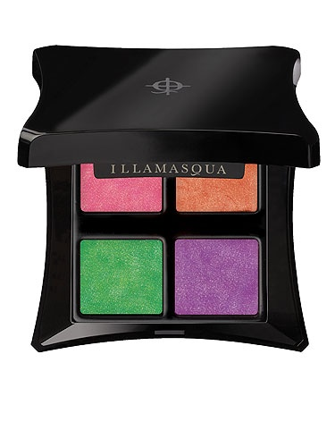 """Illamasqua Paranormal Palette. """"Illamasqua come up with so many clever ideas and great formulations. Their Paranormal Palette was inspired by 'unbridled kinetic energy, spectral light and transcendental emotional forces', which translates into far-out shades and a really groovy texture. It's powder, but it feels like a bouncy gel, and it glides on like a cream. Water-resistant, budge-proof and easy to blend, this palette makes easy work of this summer's bright colour trend"""""""