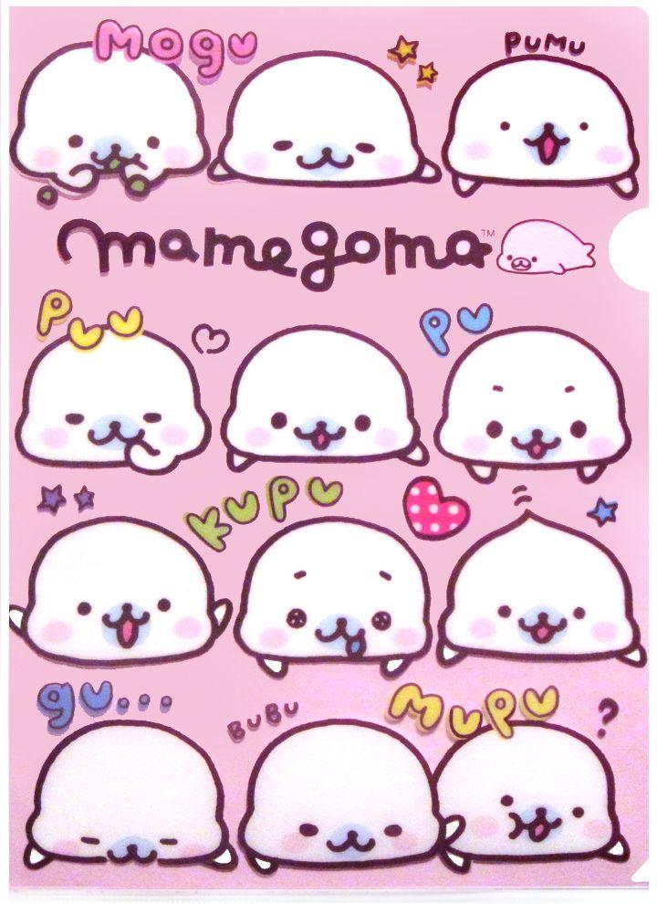 sanx mamegoma pink seals plastic file folder kawaii