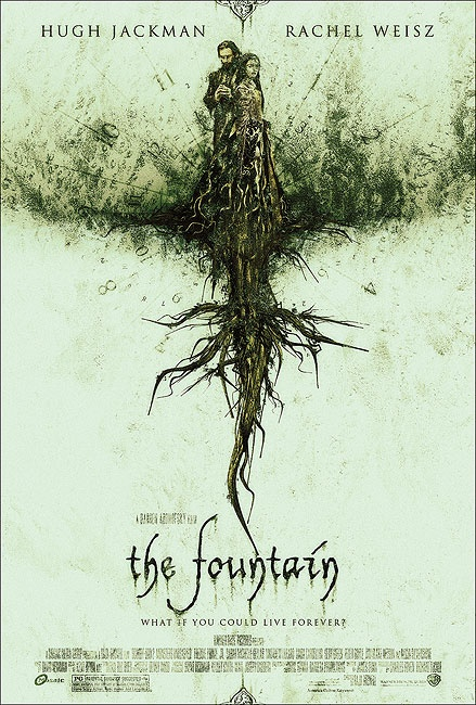 The Fountain poster by Tomasz Opasinski  As a modern-day scientist, Tommy is struggling with mortality, desperately searching for the medical breakthrough that will save the life of his cancer-stricken wife, Izzi.