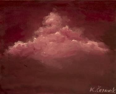 "Saatchi Art Artist Klaudija Cermak; Painting, ""Pink Cloud small"" #art"