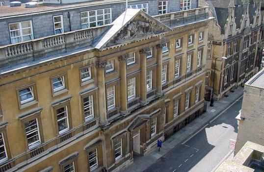 "Royal National Hospital for Rheumatic Diseases (Royal Mineral Water Hospital) The Royal National Hospital for Rheumatic Diseases NHS Foundation Trust, also known as 'The Min', is a specialist hospital in the heart of Bath. Bird's eye view of the ""Good Samaritan"" on the Pediment."