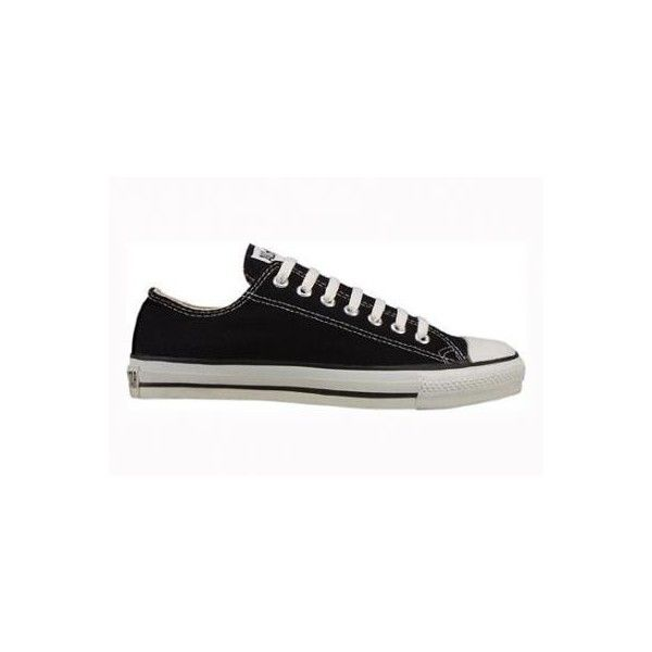 Converse Chuck Taylor All Star Lo Top Black Canvas Shoes With Extra... ($39) ❤ liked on Polyvore