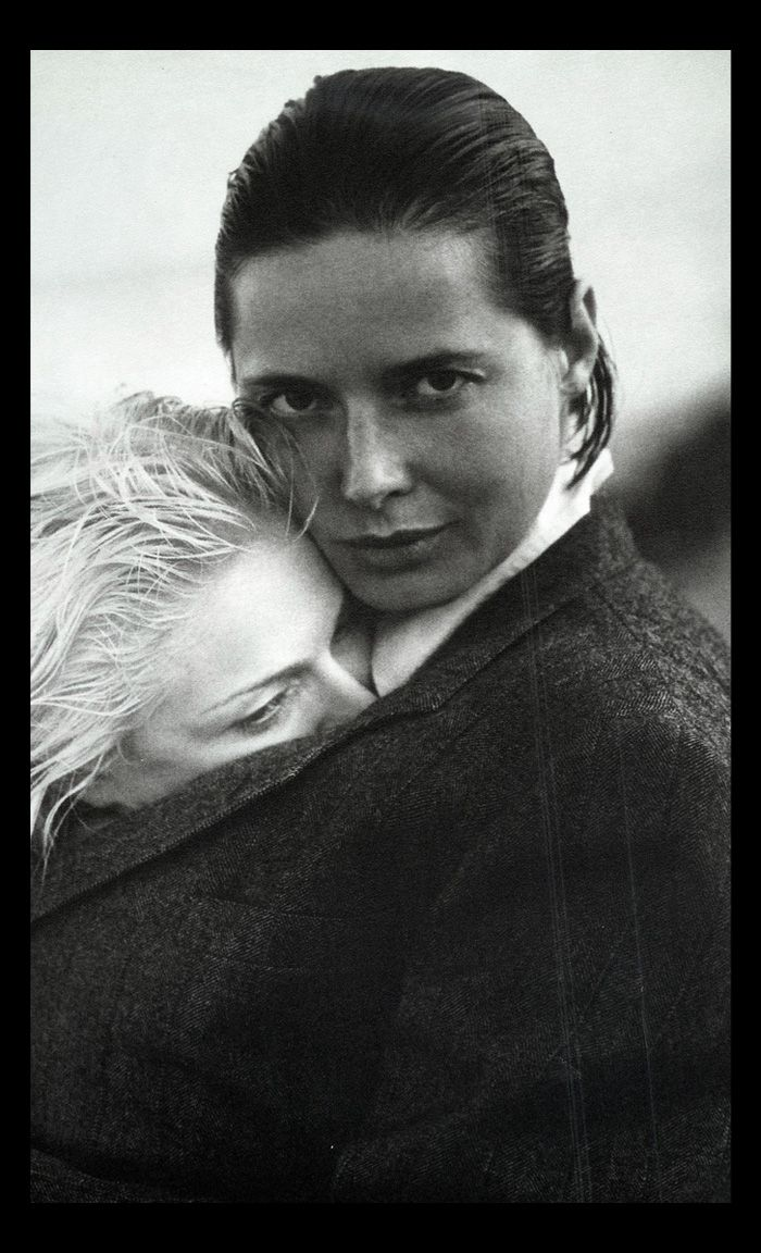 Isabella Rossellini (with a barely visible Madonna) from the iconic SEX book.