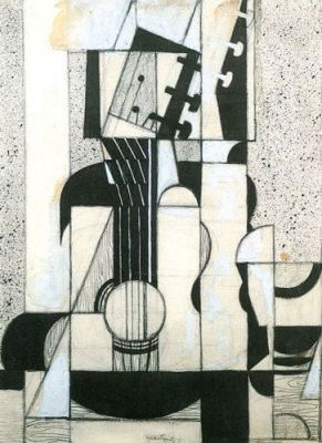 Gris - Still Life with Guitar: #Cubism #Guitar