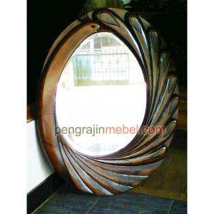 cermin hias dinding wave Kaca Cermin Dinding , Cermin Pigura Bulu