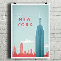 Nowy Jork - vintage plakat A2, filtr