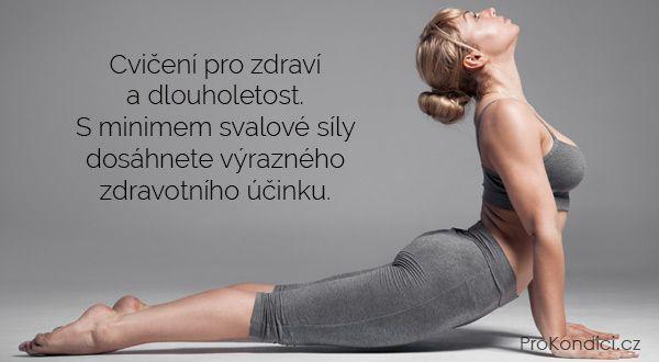 Cvičení pro zdraví a dlouholetost. S minimem svalové síly dosáhnete výrazného zdravotního účinku.   ProKondici.cz