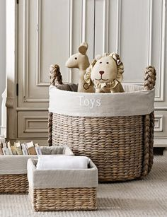Basket of cute gender neutral baby toys!  gender | gender neutral nursery | nursery inspo | nursery decor inspo | gender neutral decor | new born baby | fashion | trends | cute | nursery furniture | pregnancy | maternity | baby toys | grey toys | toy basket