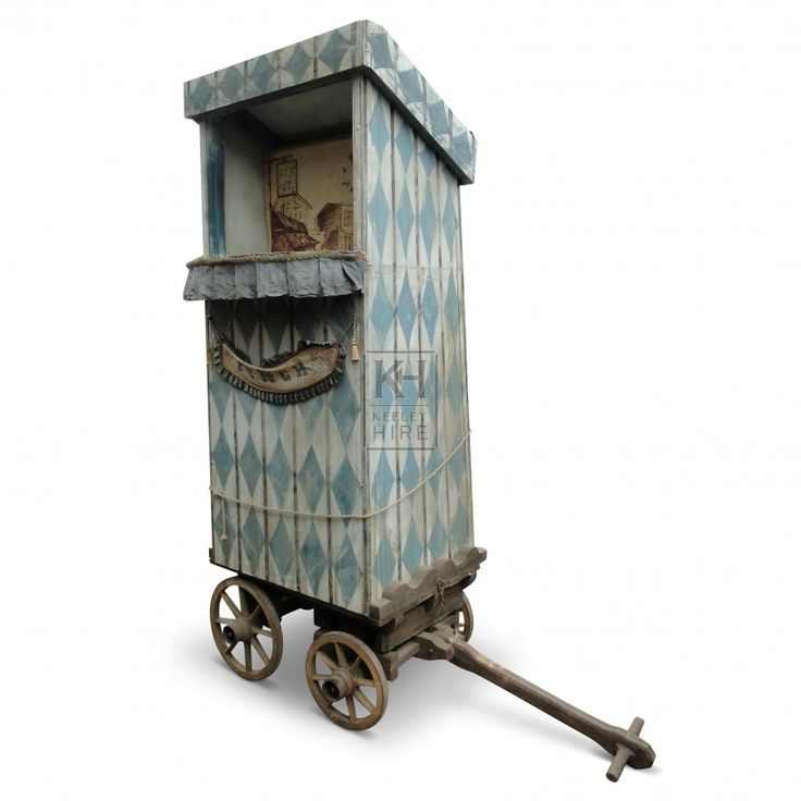 Blue / White Punch and Judy Cart