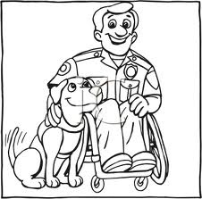 assistance dogs coloring pages - photo#32