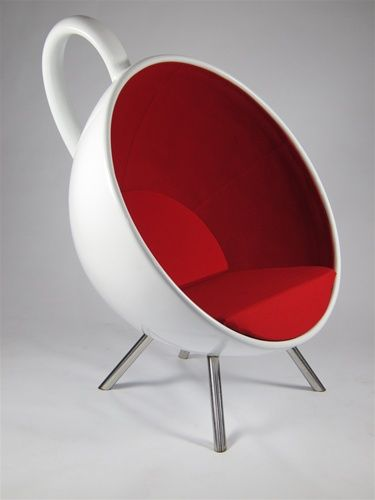 Tea Cup Chair Coffee With Metal Modern Legs