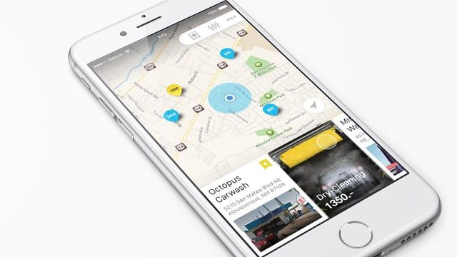 GoWash for iOS and Android helps you find and book car wash nearby.