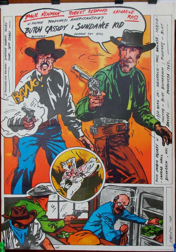 Butch Cassidy and the Sundance Kid. Western  USA by artwardrobe