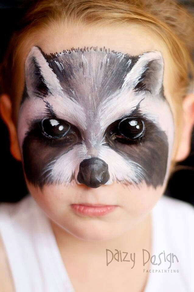 Raccoon By Daizy Designs...She is absolutely amazing                                                                                                                                                     More #FacePainting